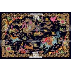 نخ و نقشه تابلو فرش شکارگاه - 5