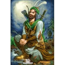 نخ و نقشه تابلو فرش حضرت ابوالفضل