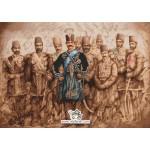 نخ و نقشه تابلو فرش شاه قاجار