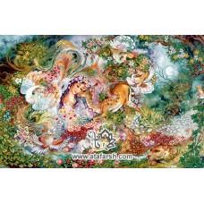 نخ و نقشه تابلو فرش دایره هستی(جدید)