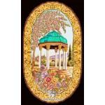 نخ و نقشه تابلو فرش حافظ
