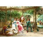 نخ و نقشه تابلو فرش باغ ملکه