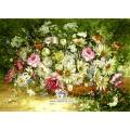 نخ و نقشه تابلو فرش گل های وحشی