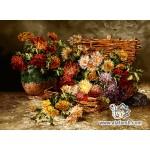 نخ و نقشه تابلو فرش سبد و گلدان