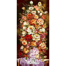 نخ و نقشه تابلو فرش گلهای زندگی
