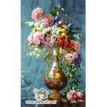 نخ و نقشه تابلو فرش گلدان آنتیک