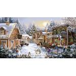 نخ و نقشه تابلو فرش کریسمس