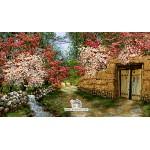 نخ و نقشه تابلو فرش کوچه باغ خاطره
