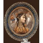 نخ و نقشه تابلو فرش ملکه