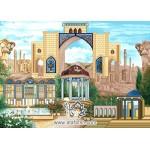 نخ و نقشه تابلو فرش  شیراز